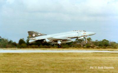Wattisham, 1990. Practice day for Battle of Britain flypast.